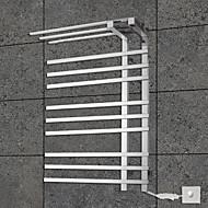 90W håndklædevarmer 304 # rustfrit stål spejl poleret tørrestativ vægbeslag
