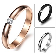 Ring Birthstones Wedding / Party / Daily / Casual Jewelry Titanium Steel Women Band Rings5 / 6 / 7 / 8 Silver