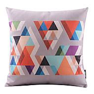 coloré coton triangle de la mosaïque / lin taie d'oreiller décoratif