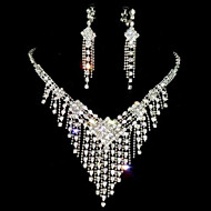 Tassel Alloy With Rhinestones Jewelry Set(Including Necklace,Earrings)