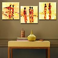 Reprodukce na plátně umění abstraktní lidí výzdoba sadu 3