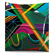 färgrik geometrisk skiss bomull / linne dekorativa örngott