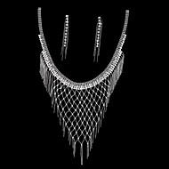 Alloy Necklace Earrings Suit