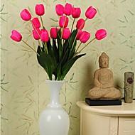 High Quality Three Large Leaves Tulip Simulation Flowers