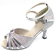 Latin Customizable Women's Sandals Customized Heel Sparkling Glitter Dance Shoes(More Colors)