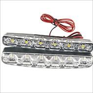Carking™ 12V 6LED Universal Car Light DRL Daytime Running Head Lamp-White Light(2PCS)