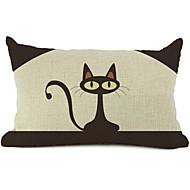 cartoon cat bavlna / len dekorativní polštář