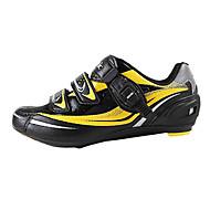 santic 남자의 체육 전문 MTB 도로 자전거 자전거 잠금 신발 - 노랑 + 검정