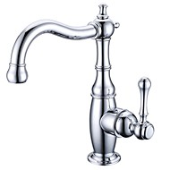Antique Centerset Rotatable with  Ceramic Valve Single Handle One Hole for  Chrome , Bathroom Sink Faucet