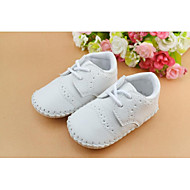 Boy's Spring / Fall / Winter Leatherette Outdoor / Casual / Athletic Flat Heel Lace-up White