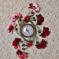 Metallwand Kunst-Wanddekor, liebe Blumen Wanduhr Wanddekor