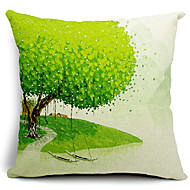 Spring Painting Cotton/Linen Decorative Pillow Cover