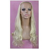 halv parykk blonde lang, høy kvalitet store bølgen kvinnelige elegant mote syntetisk kjendis parykk