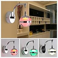 3W LED kreative runde vegglamper; rekke farger (AC85 ~ 265V)