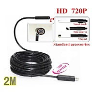 USB Endoscope Borescope Snake Mini 10mm Lens 4 LED IP67 Waterproof Inspection Camera Borescope 2M