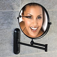 Oil-rubbed Bronze Finish  180-degree Rotating Circle Wall Mount 360-degree Rotating  Cosmetic Mirror