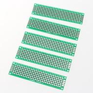 PCB Prototype Blank PCB 2 Layers Double Side 2 x 8cm Protoboard(5pcs)