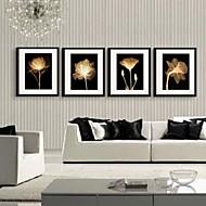 Blommig/Botanisk Inramad duk / Inramat set Wall Art,PVC Material Svart Passepartout inkluderad med Frame For Hem-dekoration ram Art