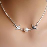 figura dell'uccello shixin® perla collana pendente in argento (1 pc)