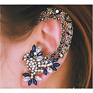 European Diamond  Parrot  Silver Alloy Ear Cuffs(Blue) (1 Pc)
