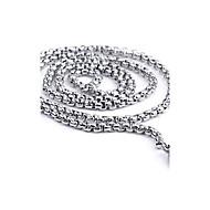 Kædehalskæde Cirkelformet Titanium Stål Mode Personaliseret Sølv Smykker For Daglig Afslappet