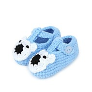 Boy's / Girl's Flats Spring / Fall Crib Shoes Synthetic / Cotton Casual Flat Heel Button Blue