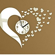 Wall Clock Stickers Wall Decals, Fashion 3D Heart Mirror Acrylic Wall Stickers