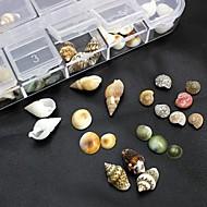 100шт смесь формирует естественные аксессуары оболочки не включают коробки 3d украшения искусства ногтя