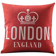 läppstift röda london england bomull / linne dekorativa örngott