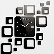 Wall Clock Stickers Wall Decals, Fashion Squares Mirror Acrylic Wall Stickers