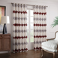 Two Panels Red Novelty Polyester Curtains Drapes