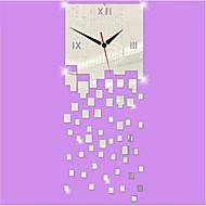 3D DIY современный стиль новая акриловая нерегулярные squaremirror настенные часы