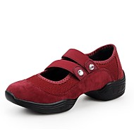 Non Customizable Women's Dance Shoes Dance Sneakers Synthetic Low Heel Black/Green/Red