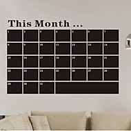 Wall Stickers Wall Decals, Month Blackboard Chalkboard PVC Wall Stickers