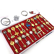 Fairy Tail Lucy New Constellation Keys Cosplay Accessories Set (25 Pieces)