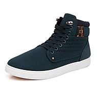 Herenschoenen Casual Imitatieleer Modieuze sneakers Zwart/Geel/Groen