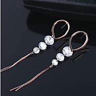 Hoop Earrings Women's Cubic Zirconia/Alloy Earring Rhinestone
