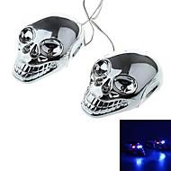 DTY koponya stílusú 4 LED dekoratív lámpa matrica az autó, motorkerékpár (2 db)