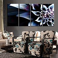 Stretched Canvas Art De färgglada blommor Set med 4