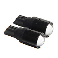 T10 1.5W COB 120LM 6000-6500k Cool White Light LED Bulbs for Car Instrument/Side Marker Lamp(DC12V 2pcs)