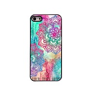 Personalized Gift Elegant Flower Design Metal Case for iPhone 5/5S