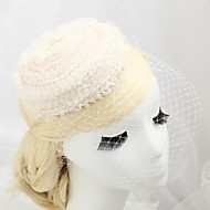 Women's/Flower Girl's Lace/Imitation Pearl/Flannelette Headpiece - Wedding/Special Occasion/Outdoor Fascinators/Hats