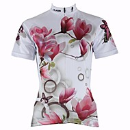 PaladinSport Women's Cycling Jersey Short Sleeves Lily Spring and Summer Style 100% Polyester Short Sleeved