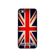 gepersonaliseerd geval de Union Jack ontwerp metalen behuizing voor de iPhone 5 / 5s