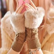 여성제품 장갑 귀여운 / 캐쥬얼 니트웨어