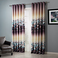 Blackout Dreamlike Floral Clusters Curtain (Two Panels)