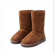 Women's Spring / Fall / Winter Snow Boots Leatherette Office & Career / Casual Flat Heel Black / Brown / Tan