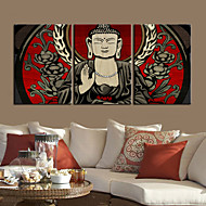Canvastaulu Art Buddha Set of 3