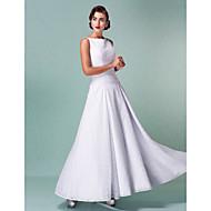 웨딩 드레스 - 화이트 A 라인 발목 길이 스트랩 레이스 플러스 사이즈