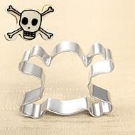 Halloween Theme Skull  Shape Cookie Cutter, L 5.8cm x W 4.2cm x H 2.5cm, Stainless Steel